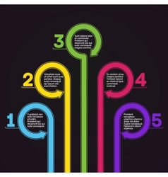 Infographics template five options vector