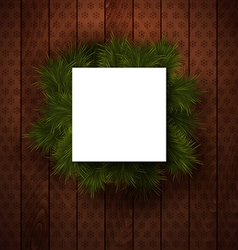 Merry christmas paper note with place for your vector