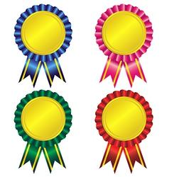 Set of award ribbon vector