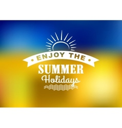 Enjoy summer holidays poster vector