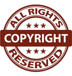Pure copyright stamp vector