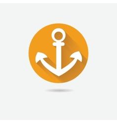 Anchor nautical symbol icon vector image