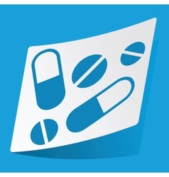 Medicine sticker vector