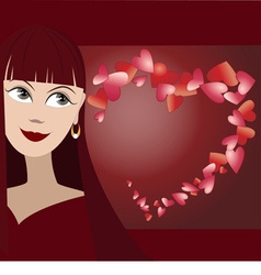 Background with face of girl vector