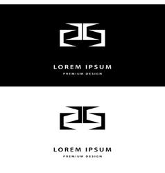 Creative icon monogram design elements vector