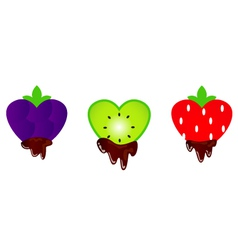 valentines fruit chocolates vector image