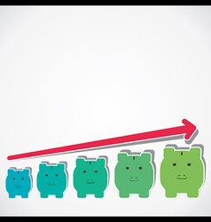 Saving money graph vector