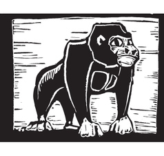 Gorilla print vector
