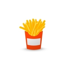 Red box of french fries vector