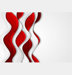 Abstract corporate background with red and grey vector