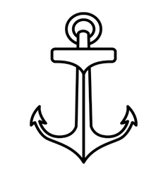 Anchor drawing tattoo style isolated icon vector