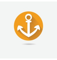 Anchor nautical symbol icon vector image