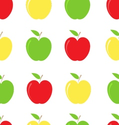Apple background pattern vector image vector image
