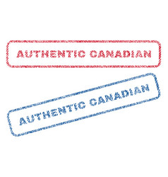 Authentic canadian textile stamps vector