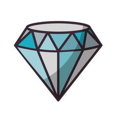 Beautiful diamond isolated vector