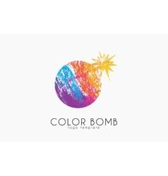 Bomb logo Color bomb logo Creative logo vector image