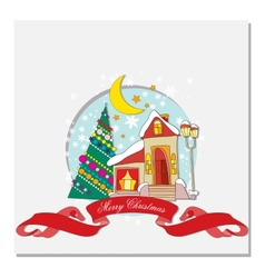 card with Christmas vector image vector image