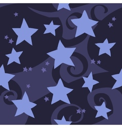 cartoon flat blue stars seamless pattern vector image vector image