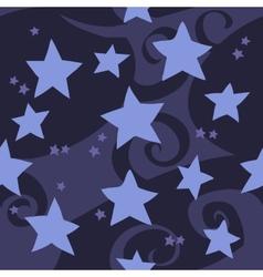 cartoon flat blue stars seamless pattern vector image vector image