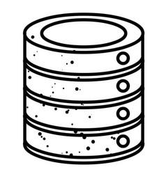 Cartoon image of database icon vector