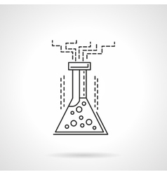 Chemical reaction flat line icon vector image