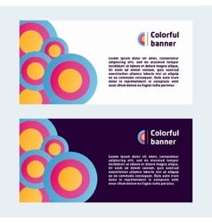 Colorful web banner vector image vector image