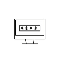 Computer password icon vector