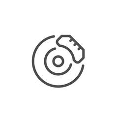 disk brake line icon vector image