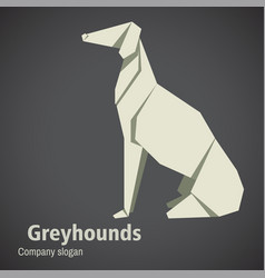 dog breed greyhounds origami vector image vector image
