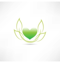 Eco green heart vector