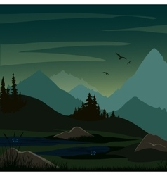 fabulous dark swamp background vector image