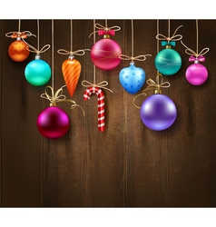 Festive Decorative Christmas Template vector image