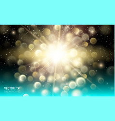 gold firework explosion abstract light background vector image vector image