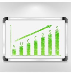Graph of Success vector image