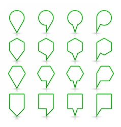 Green map pin sign flat location icon web button vector