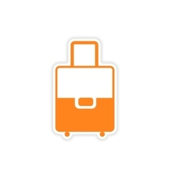 Icon sticker realistic design on paper valise vector