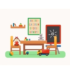 Kids room kindergarten preschool playground vector