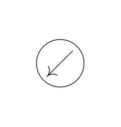 left down icon vector image