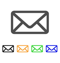 letter flat icon vector image