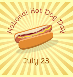 National hot dog day - july 23 vector