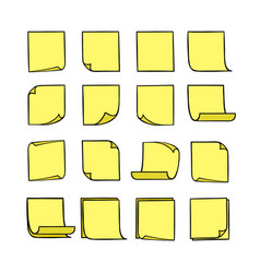 Note papers yellow vector