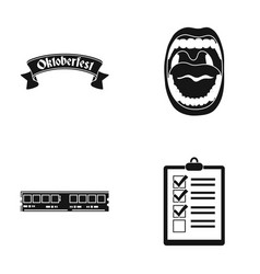 Octoberfest oral cavity and other web icon in vector