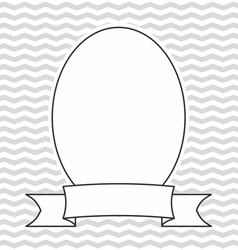 Photo frame on grey and white zig zag background vector