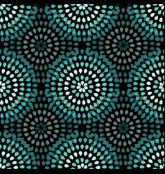 Seamless geometric pattern dots vector
