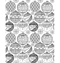 Seamless texture with black and white christmas vector