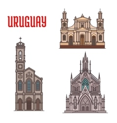 Uruguay tourist attraction architecture landmarks vector