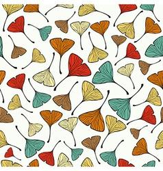 Vintage Ginko biloba Leaf pattern vector image