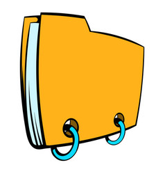 Yellow file folder icon cartoon vector