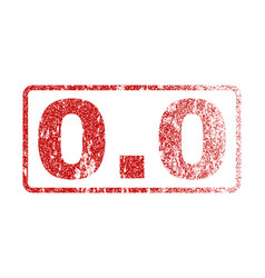 00 rubber stamp vector image vector image