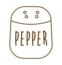 Pepper ingredient isolated icon vector